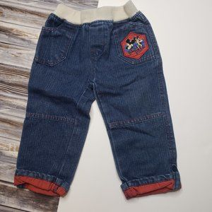Vintage Disney Mickey and Pluto Cuffed Jeans
